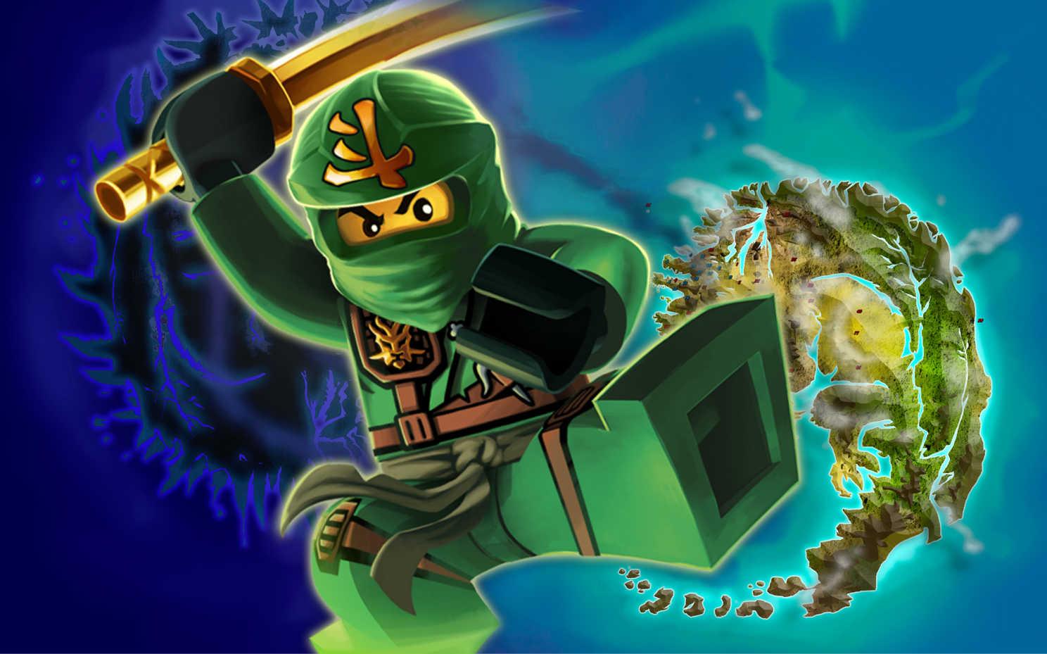 Ninjago hd wallpaper wallpapersafari - Ninja vert lego ...