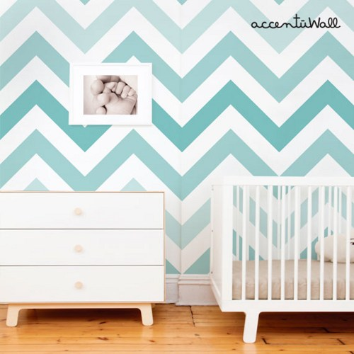 teal peel and stick fabric wallpaper repositionable chevron teal peel 500x500