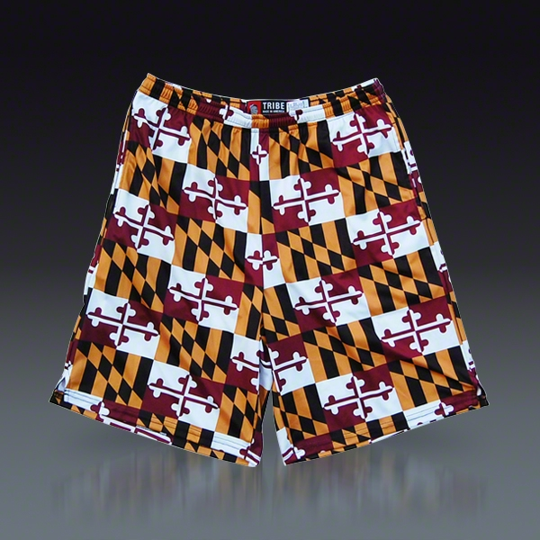 Maryland Flag Sublimated Lacrosse Shorts LACROSSECOM 600x600