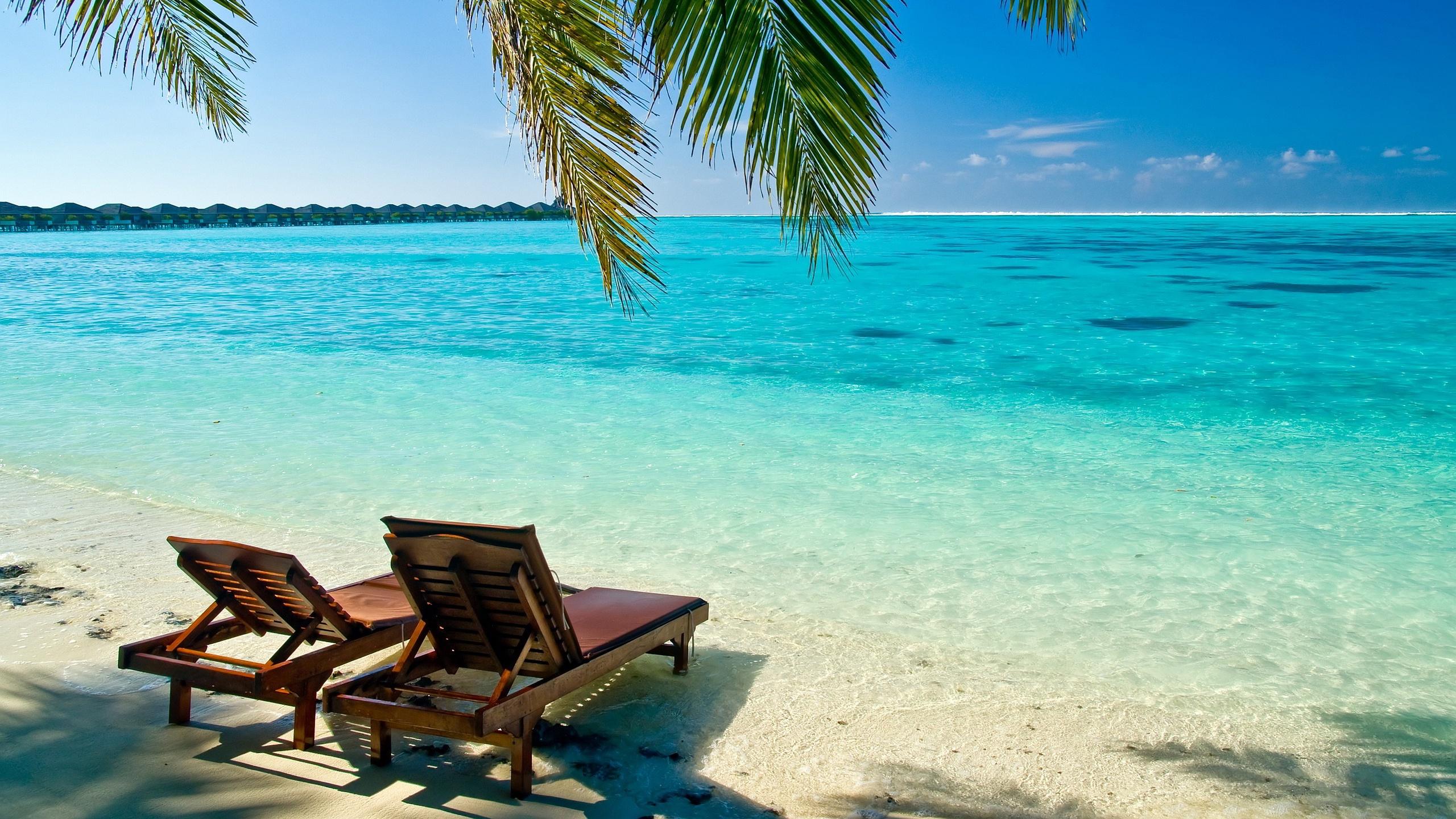 Tropical Beach Desktop Backgrounds Wallpaper Description The Above Is 2560x1440