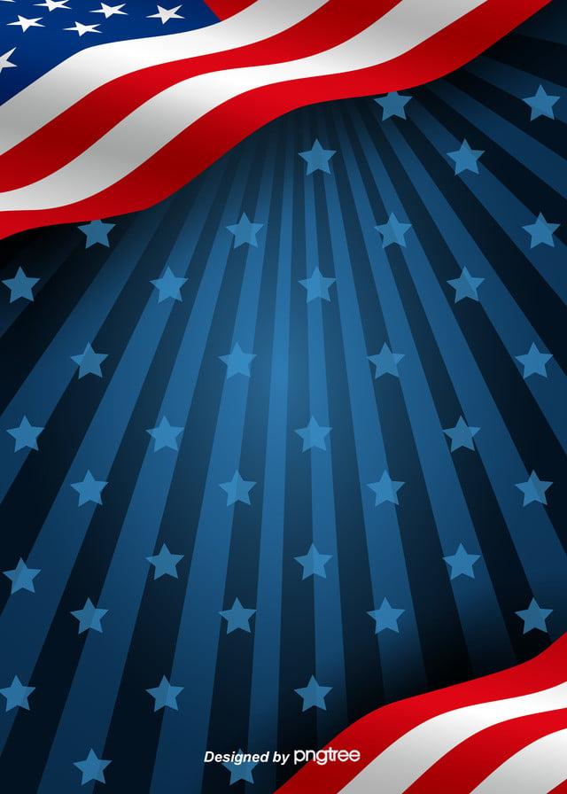 American Flag Background With Dark Stars Shine Creative Flag 640x896