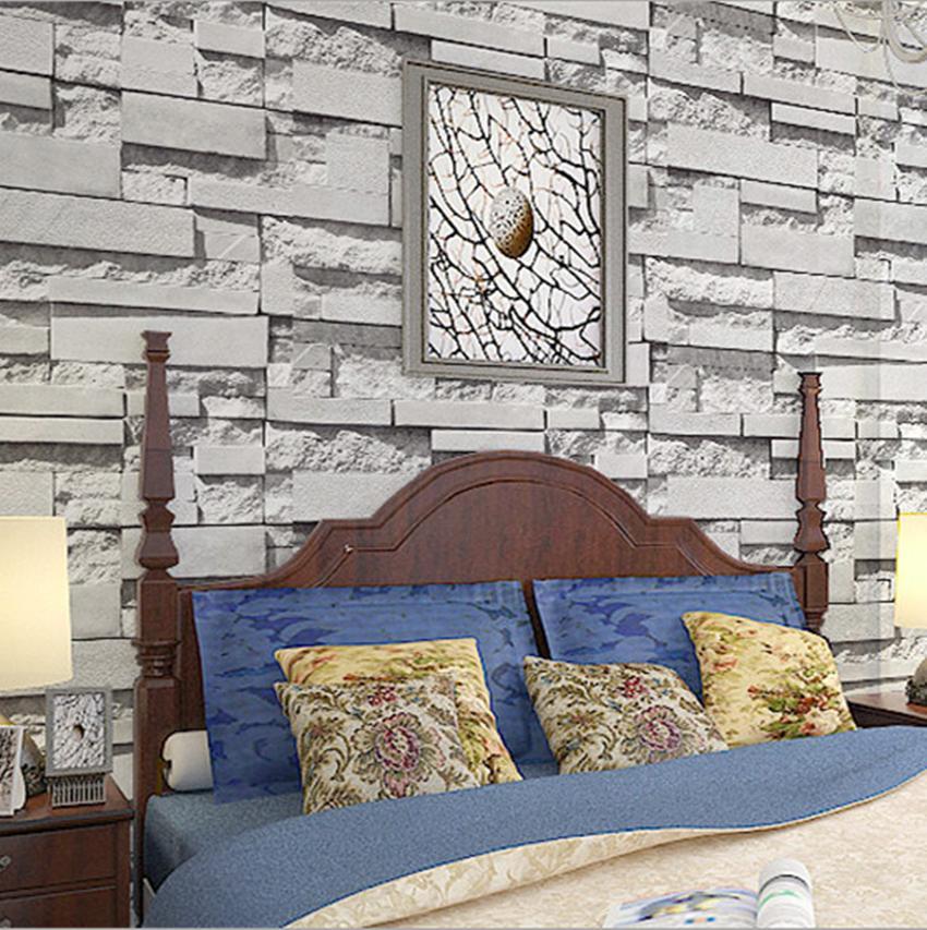 Vivid Art Wallpaper Roll Birch Tree Brick Stone Room Decor Textured 850x853
