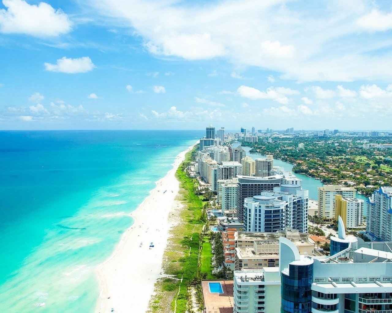 Palm Beach Florida From Above