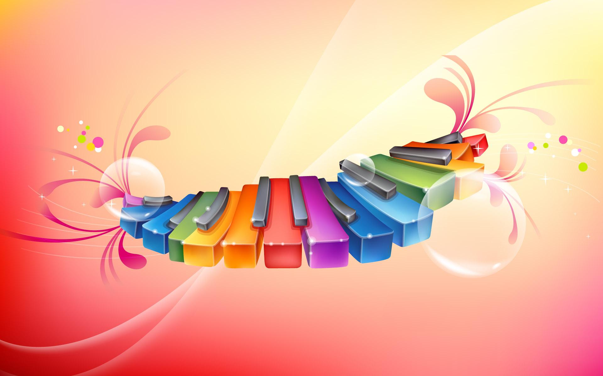 piano wallpaper rhythmic colorful walls wallpapers desktop 1920x1200