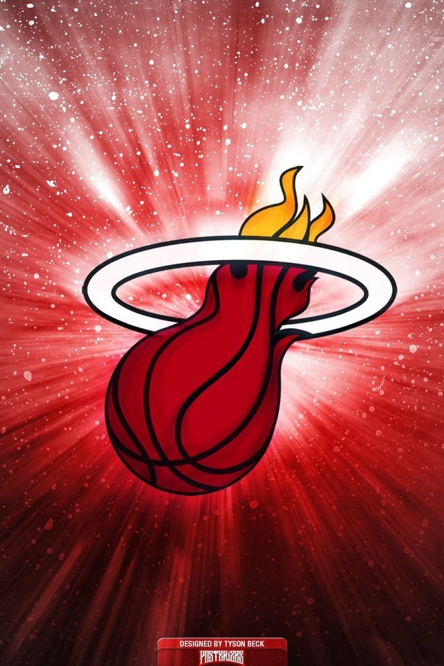 Miami Heat Logo 4 iPhone wallpapers Background and Themes 640x960