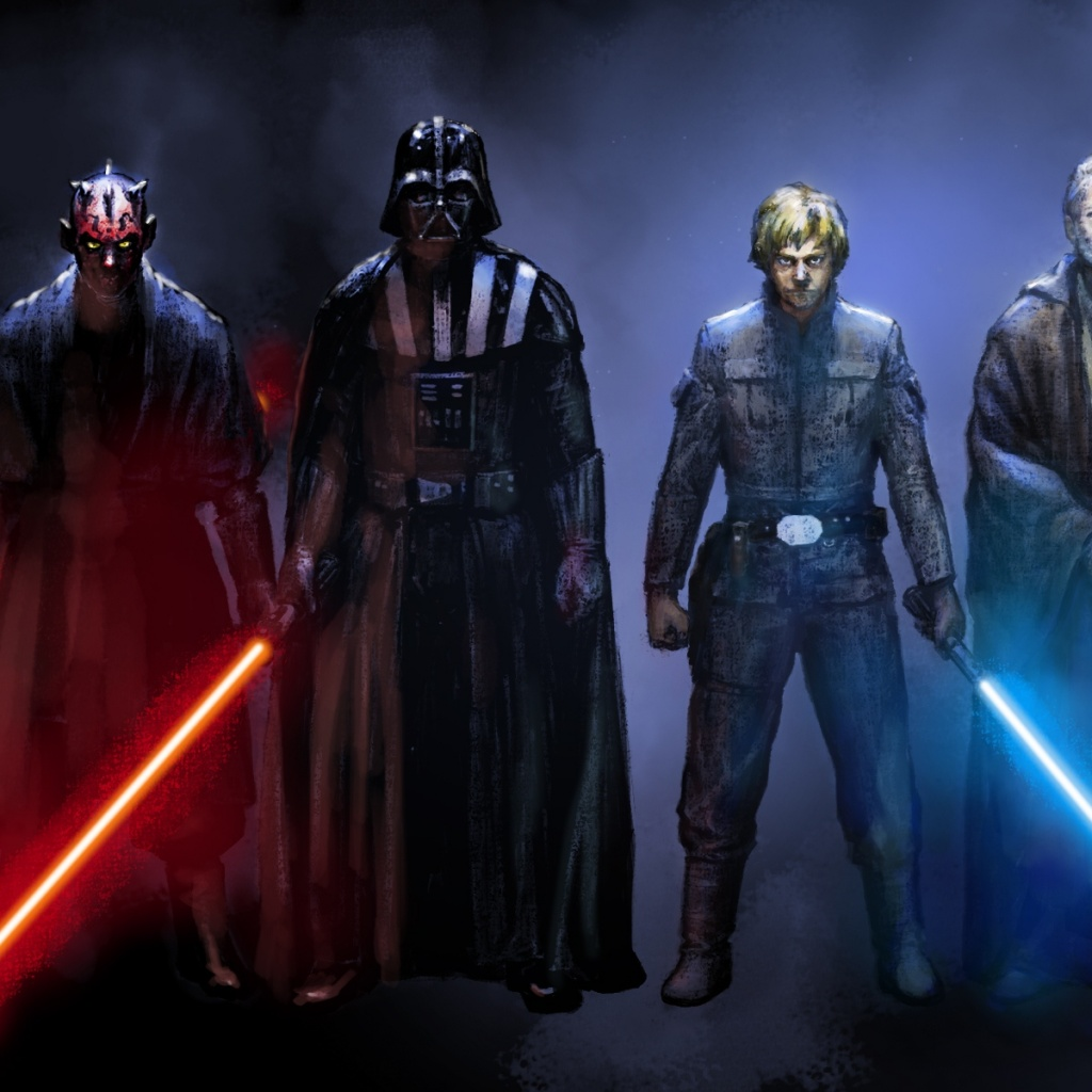Star Wars Sith Vs Jedi Wallpapers The Art Mad Wallpapers 1024x1024
