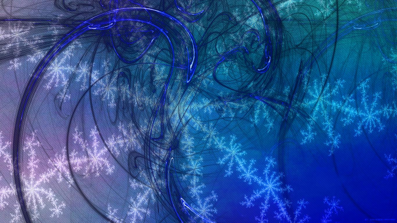Blue Flame Desktop Wallpaper by Kniye 1366x768