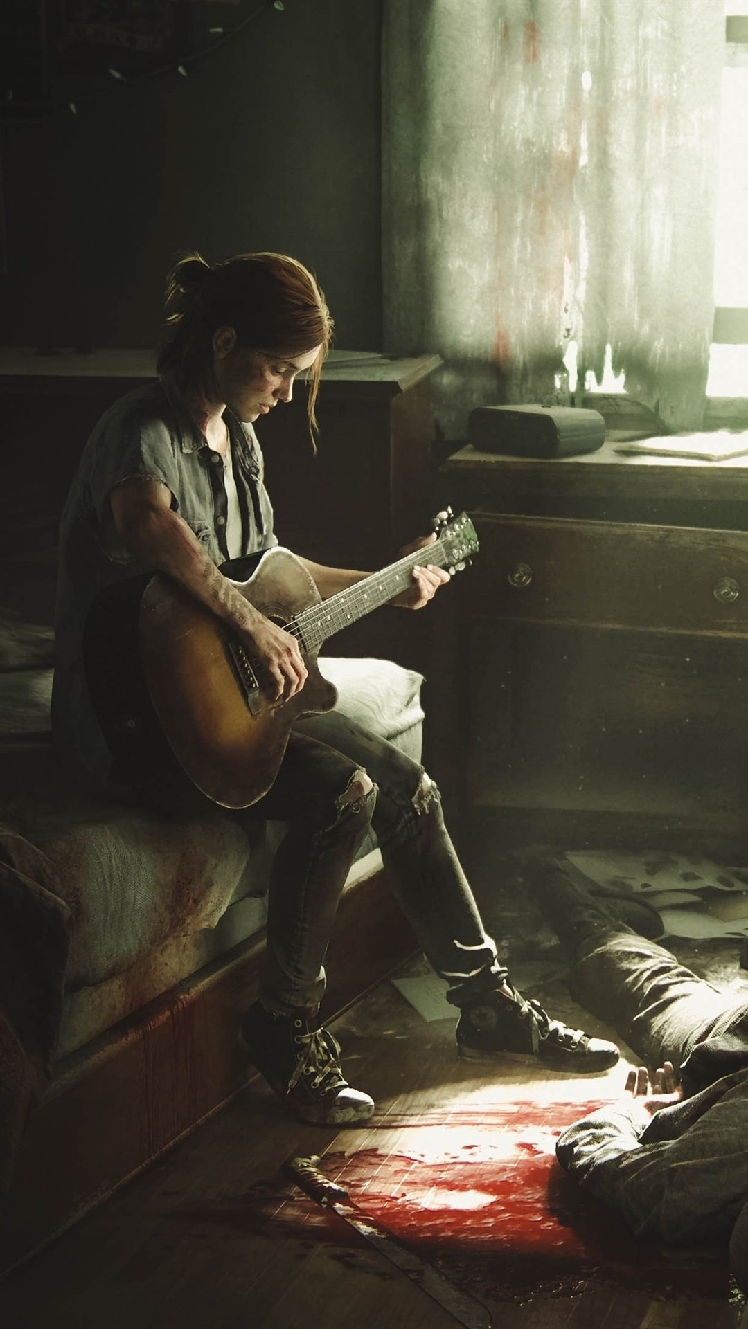 The Last of Us Part II girl guitar 1080x1920 iPhone 8766S 1080x1920