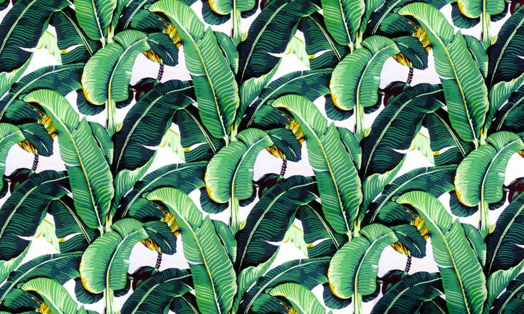 Banana leaf wallpaper design Martinique for the Beverly Hills Hotel 736x441