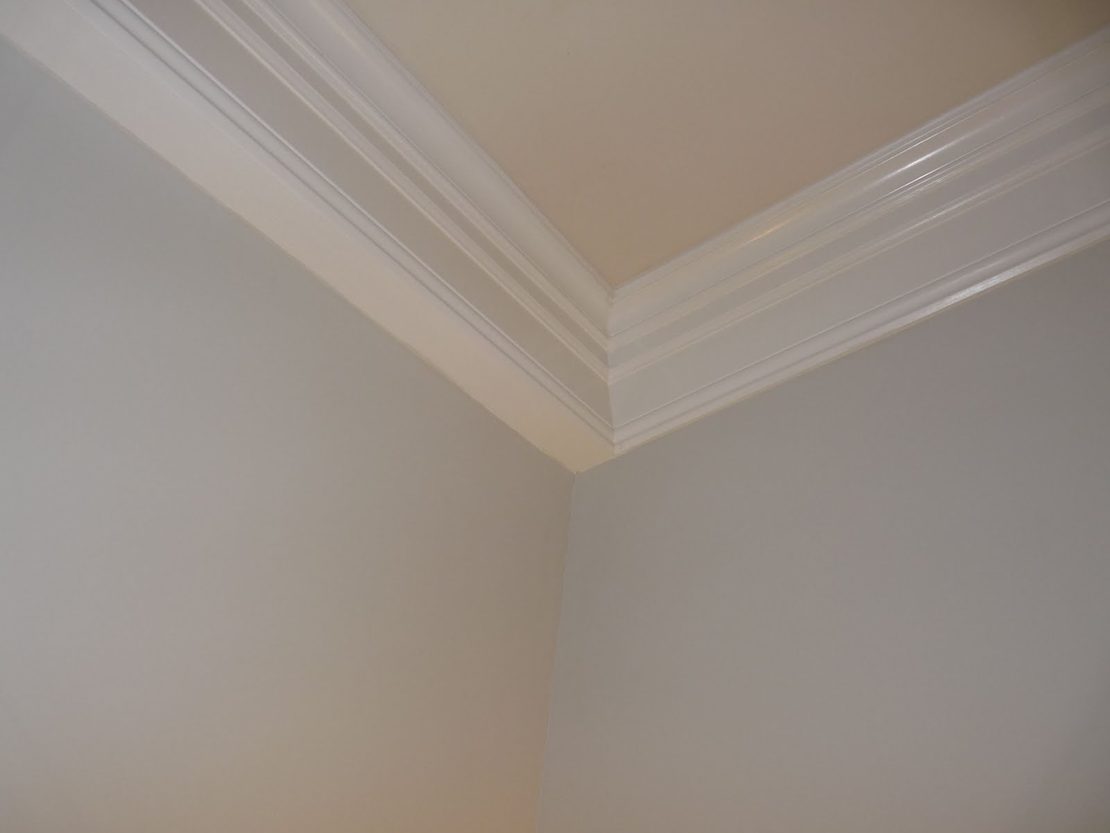 Chris hung crown molding which was a challenge due to the slanted 1600x1200