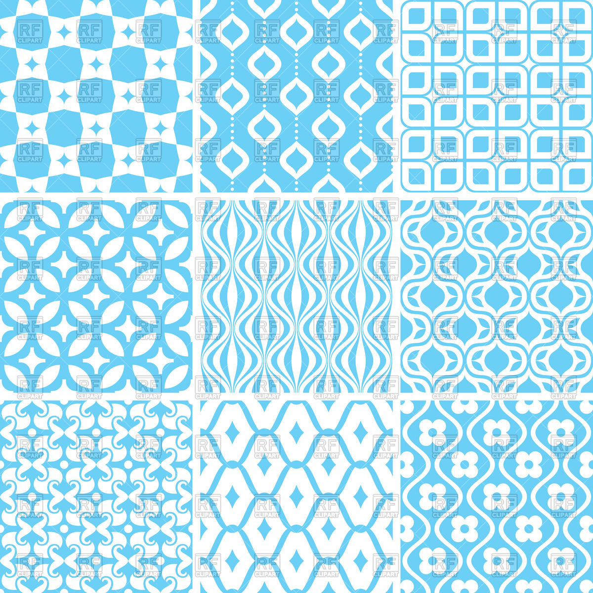 Seamless blue wallpaper with geometric patterns 47236 download 1200x1200