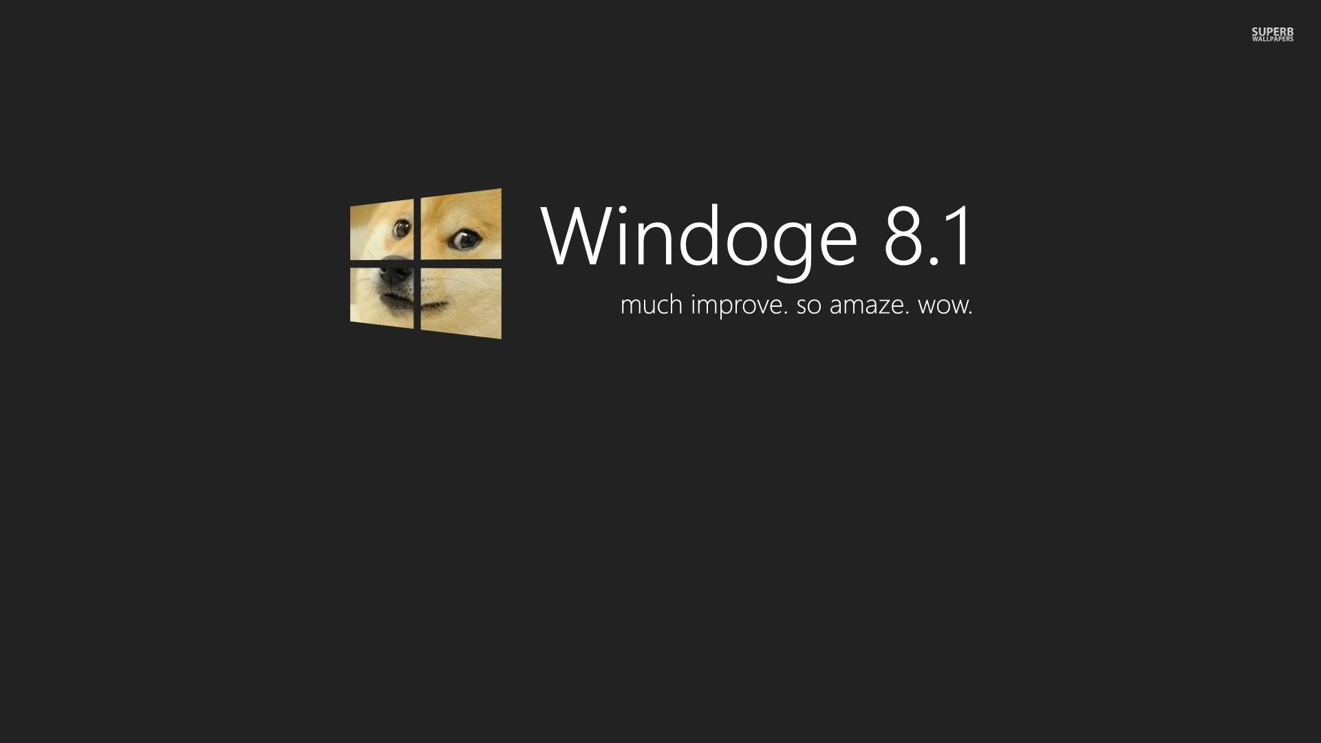Doge Windows 81 Wallpaper   MixHD wallpapers 1920x1080