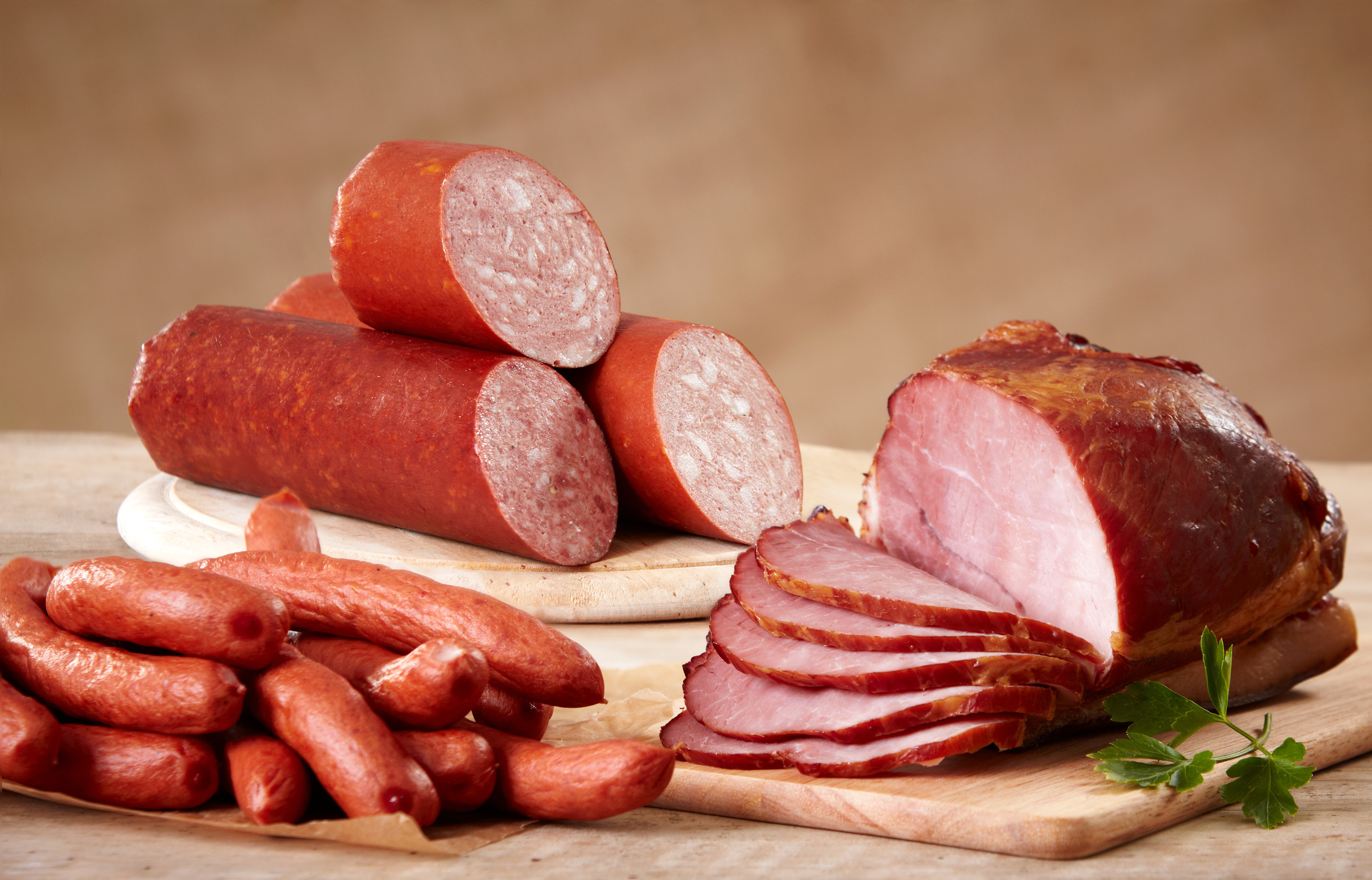 Images Sausage Ham Vienna sausage Food Meat products 5582x3581 5582x3581
