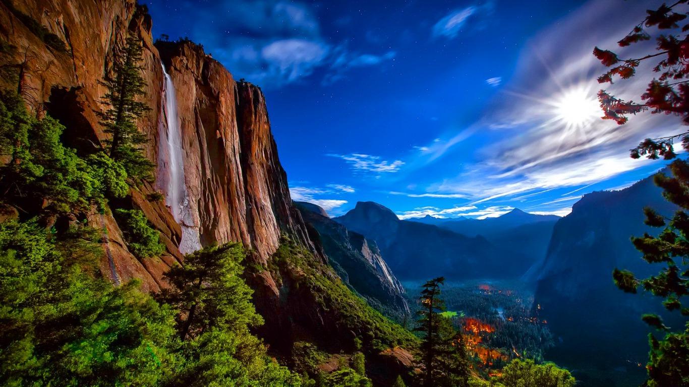 Yosemite National Park Computer Wallpapers Desktop Backgrounds 1366x768