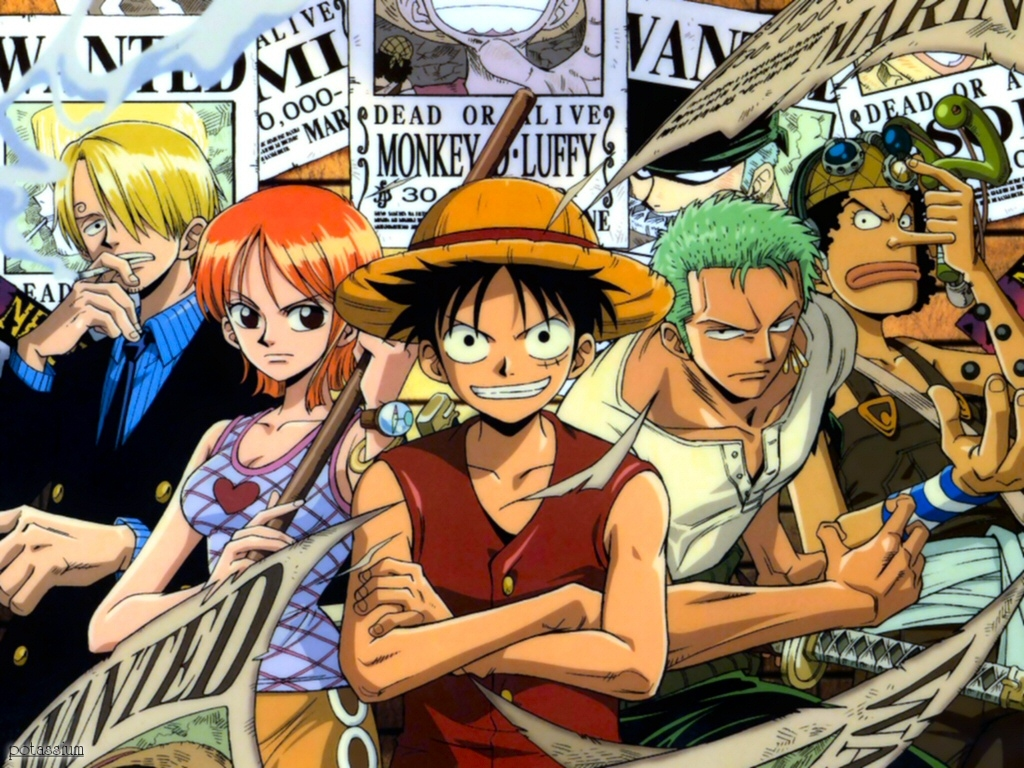 One Piece Crew Wallpaper Displaying 15 Images For Straw Hat 1024x768