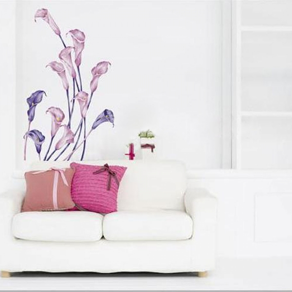 Calla Pattern Graffiti Removable Wallpaper Alex NLD 600x600