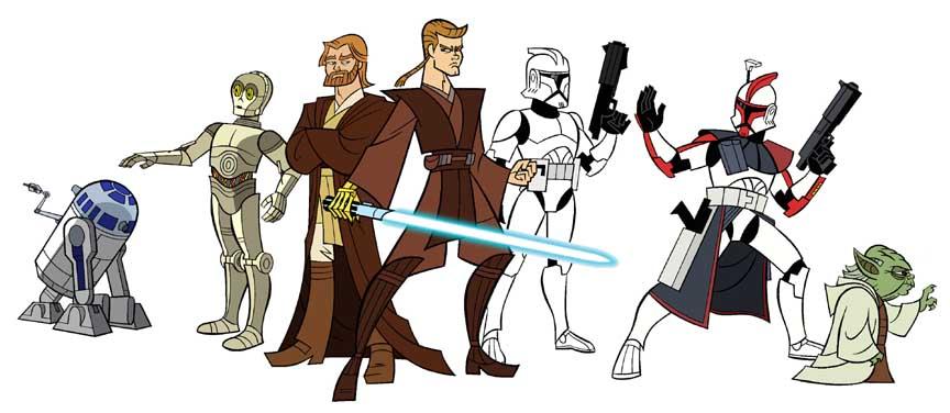 STAR WAR WALLPAPER Star Wars Cartoon 864x376