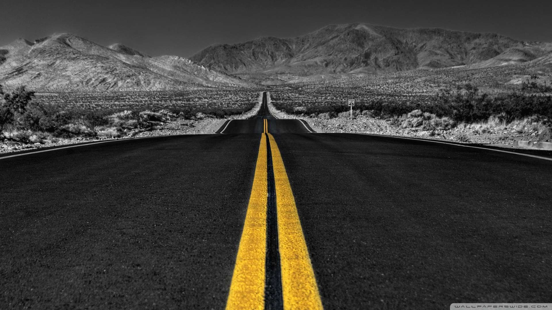Hd wallpaper 1080p - Wallpaper Long Desert Road Black And White Wallpaper 1080p Hd Upload