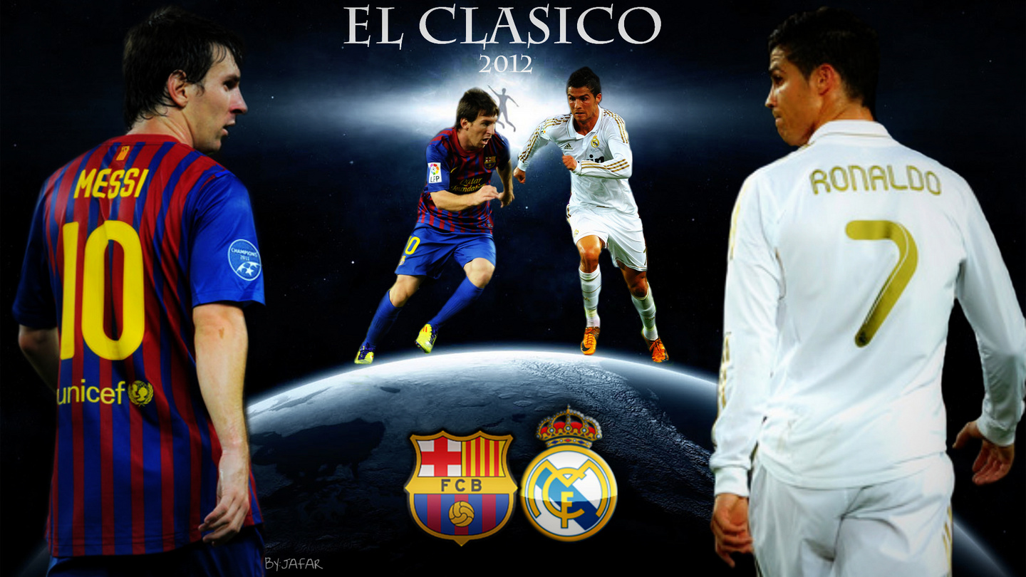 Lionel Messi Vs Cristiano Ronaldo Wallpapers   All About Football 1440x810