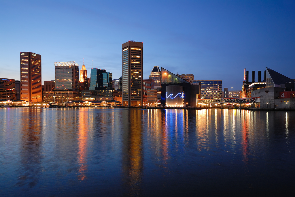 The Baltimore skyline photos hotel new home moving to   Maryland 1024x683