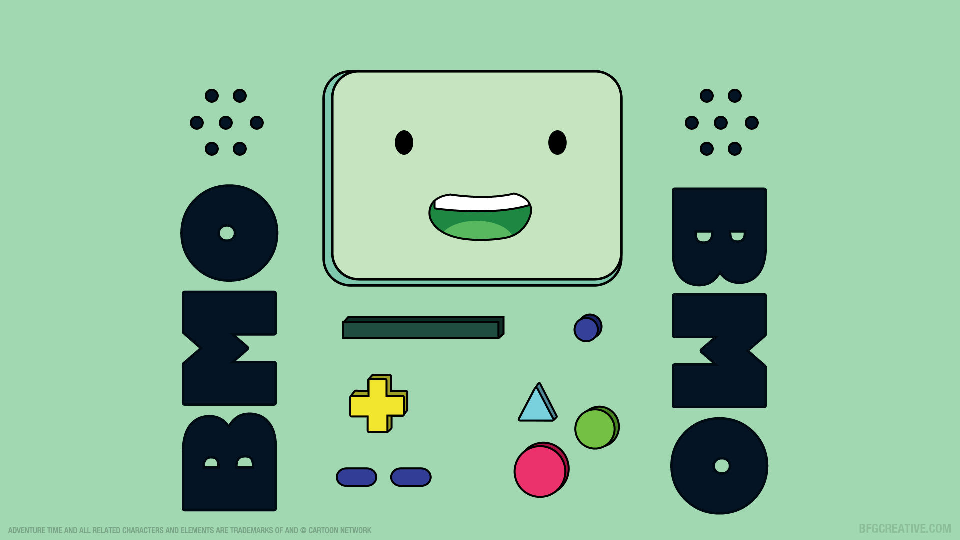 1920x1080 wallpaper of Beemo BMO from Adventure Time BMO 1920x1080