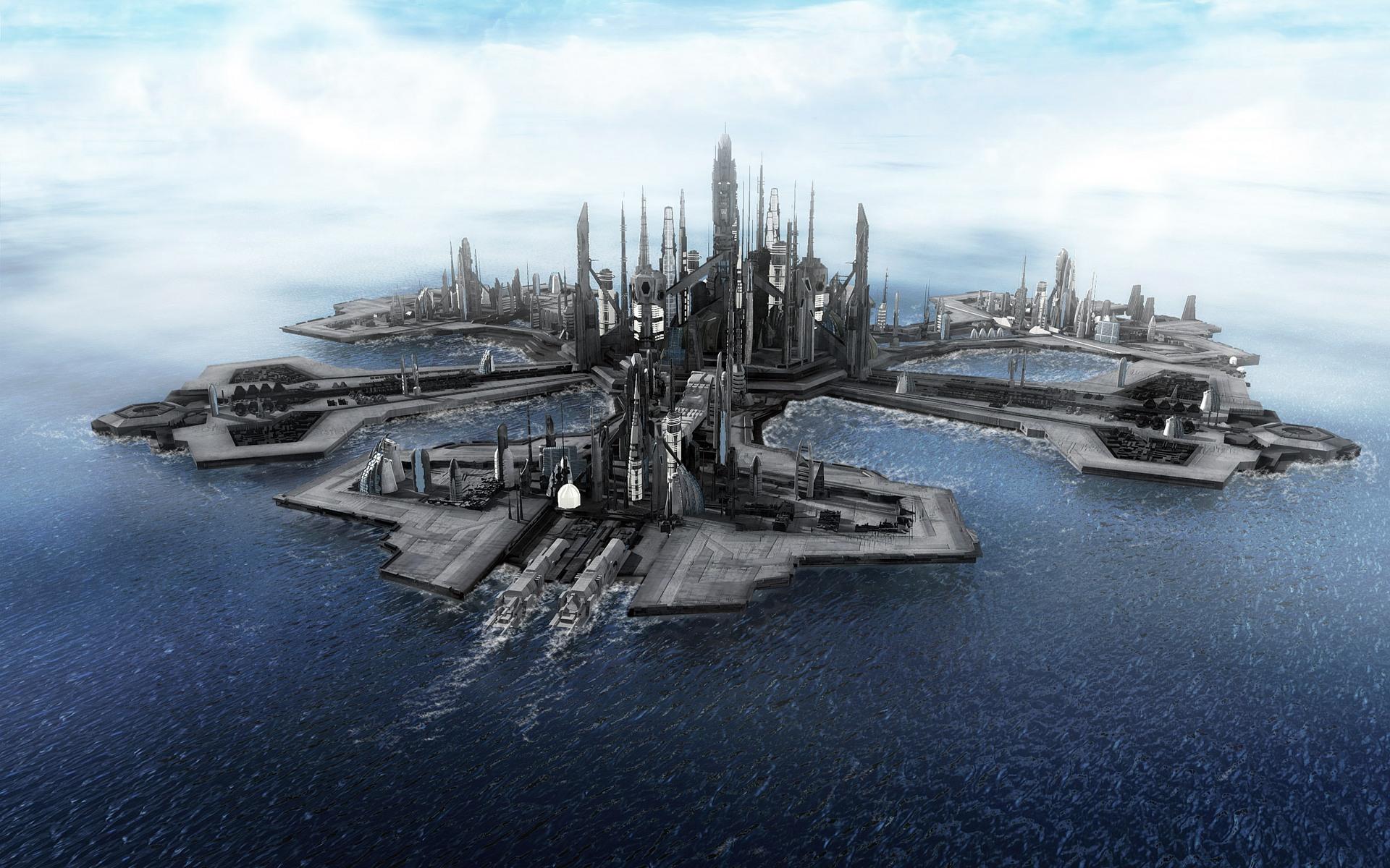 Netizen Floating Cities In The Ocean 1920x1200