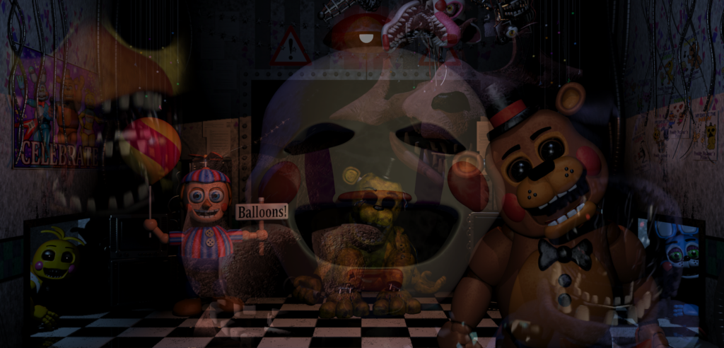 FNAF favourites by Syanalura 1024x492