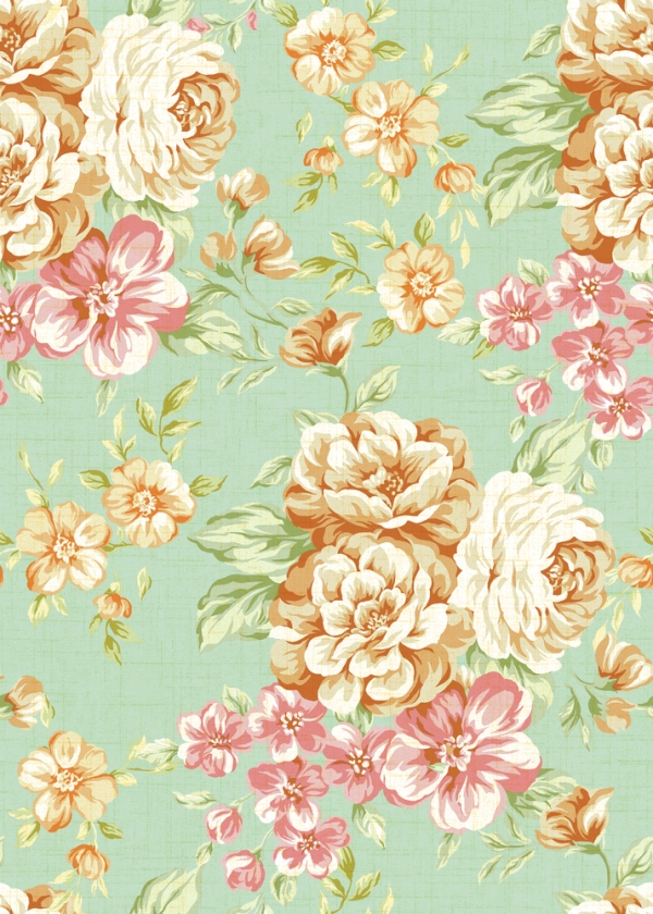 Vintage Floral Print Wallpaper Images Pictures   Becuo 600x840