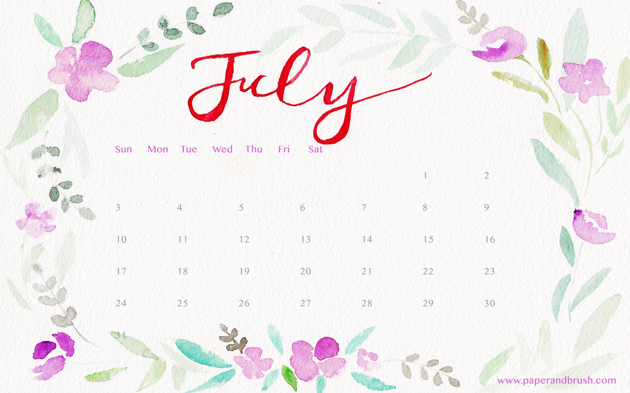35 Desktop Wallpapers Calendar July 2017 On Wallpapersafari