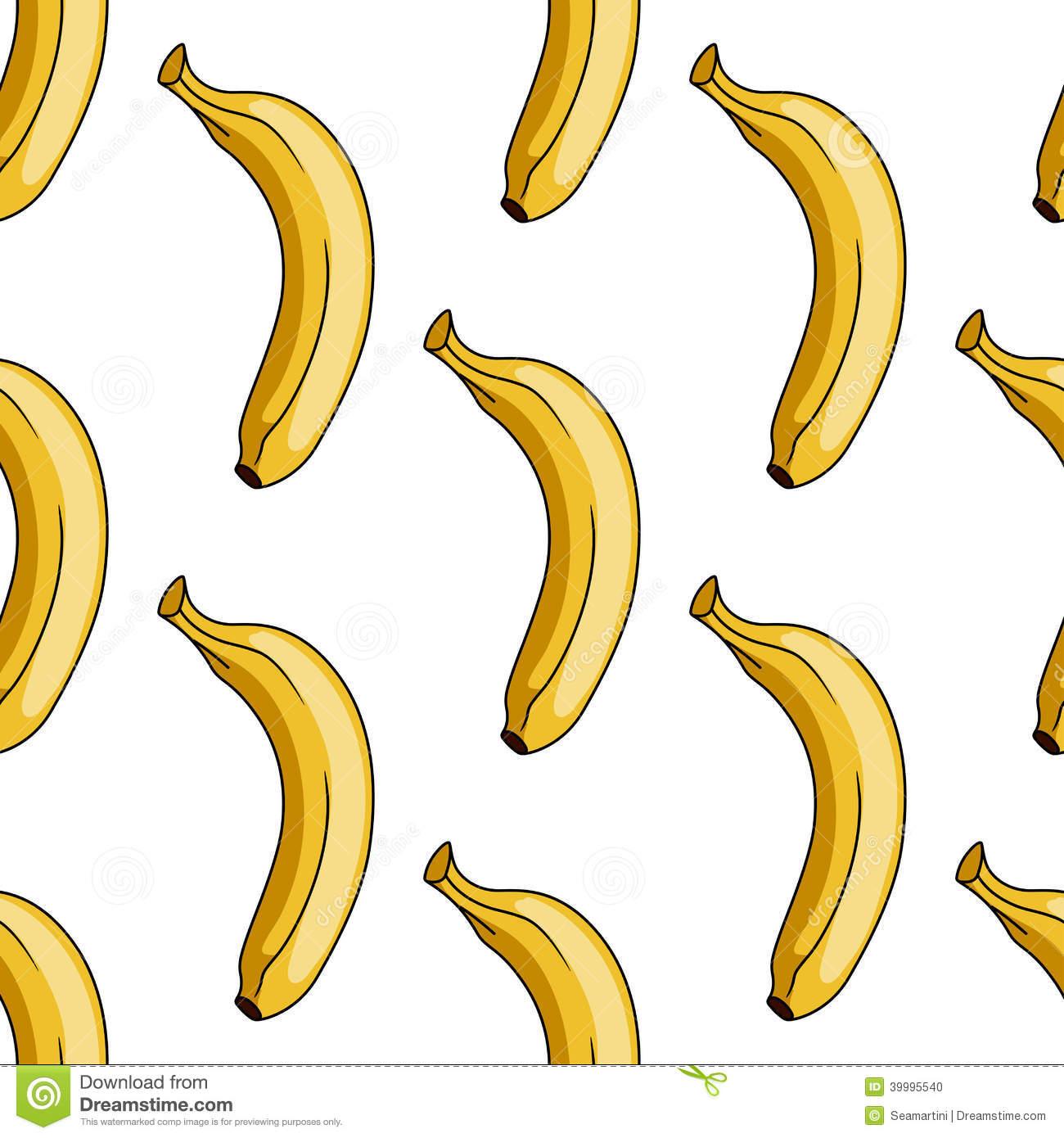 Banana Pattern Wallpaper Seamless pattern of yellow banana stock 1300x1390