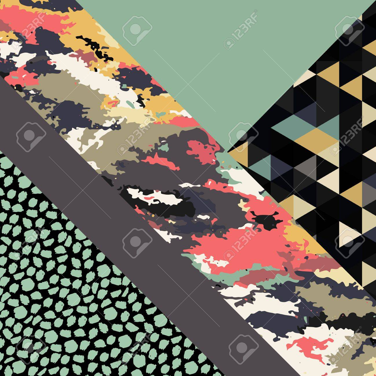Abstract Hand Drawn Geometric Pattern Triangle Or Background 1300x1300