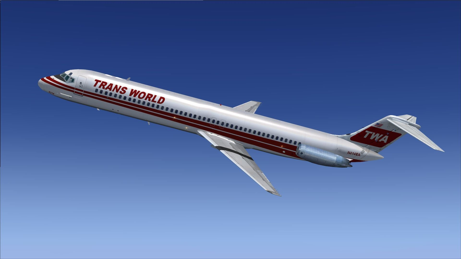 Trans World Airlines Douglas DC 9 51 N414EA for FSX 1920x1080