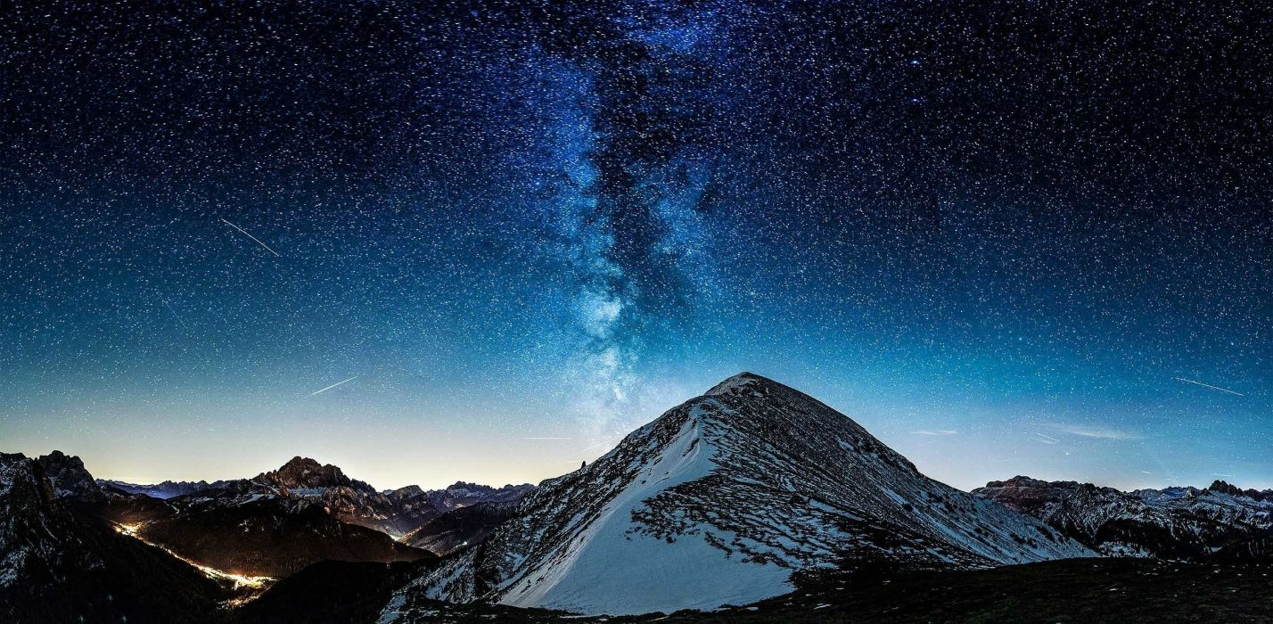 Milky Way Mountains Stars wallpaper 2480x1216 919151 WallpaperUP 1428x700