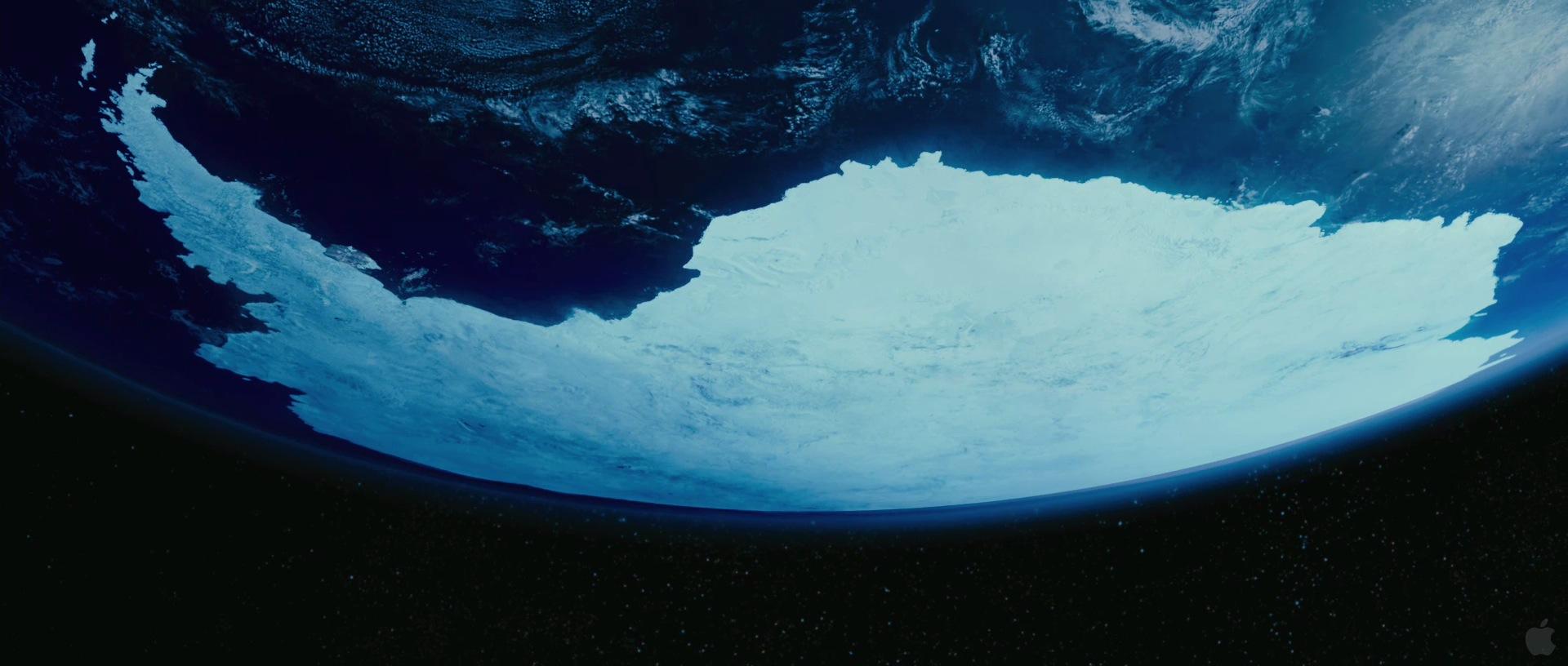 Antarctica from Space in Happy Feet Two Desktop Wallpaper 1920x816