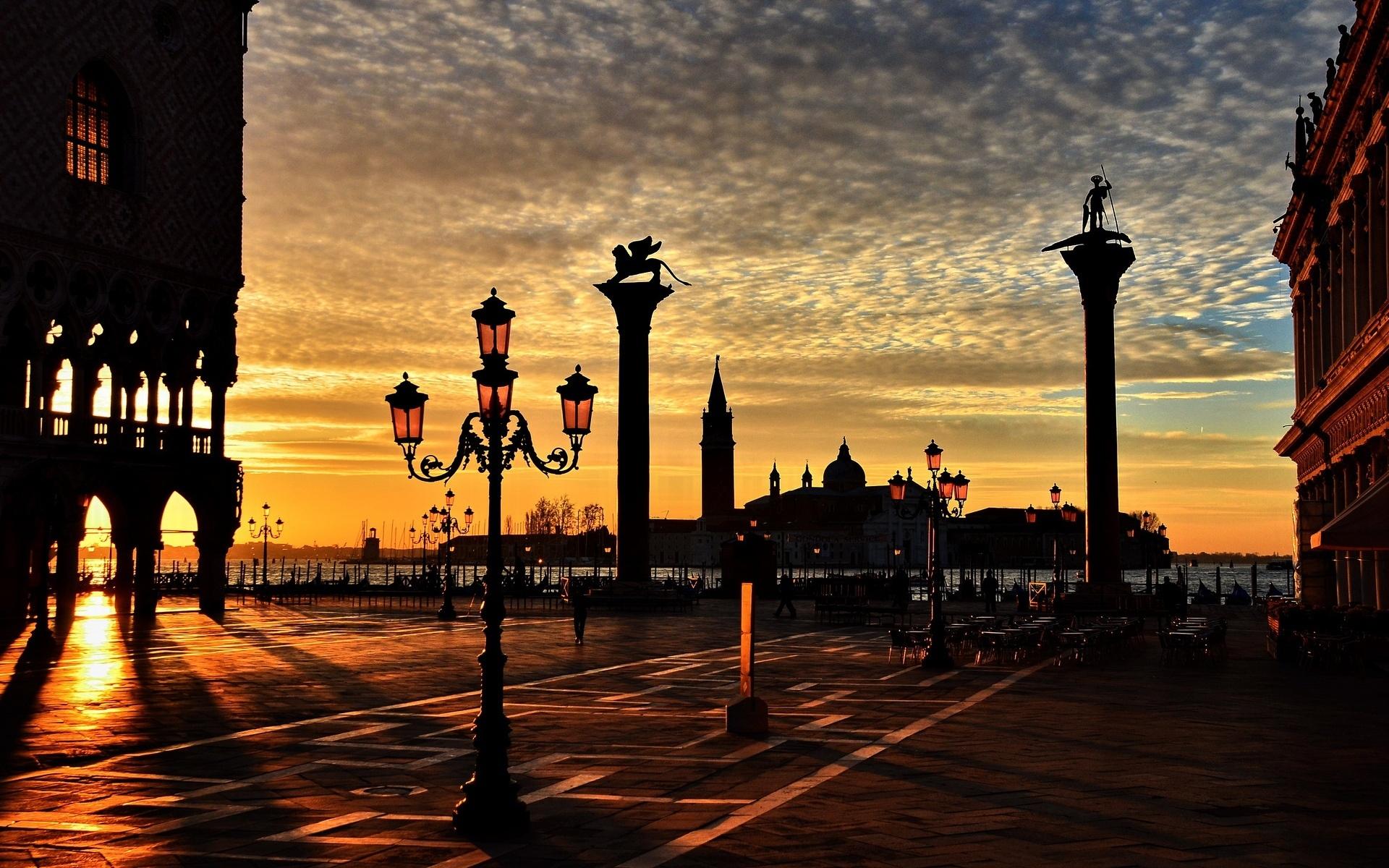 Street italia lantern venezia lights city italy wallpaper 1920x1200
