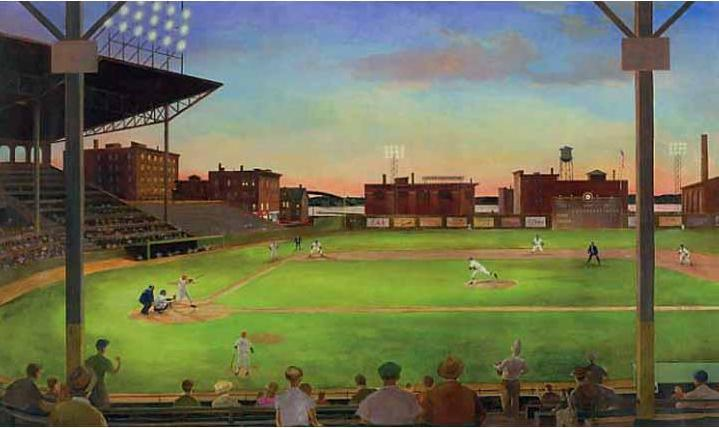 mlb baseball home decorfirst pitch baseball stadium wall mural 719x428