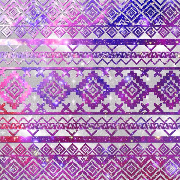 Pattern Pink Nebula Galaxy Space Art Print by Girly Trend Society6 600x600