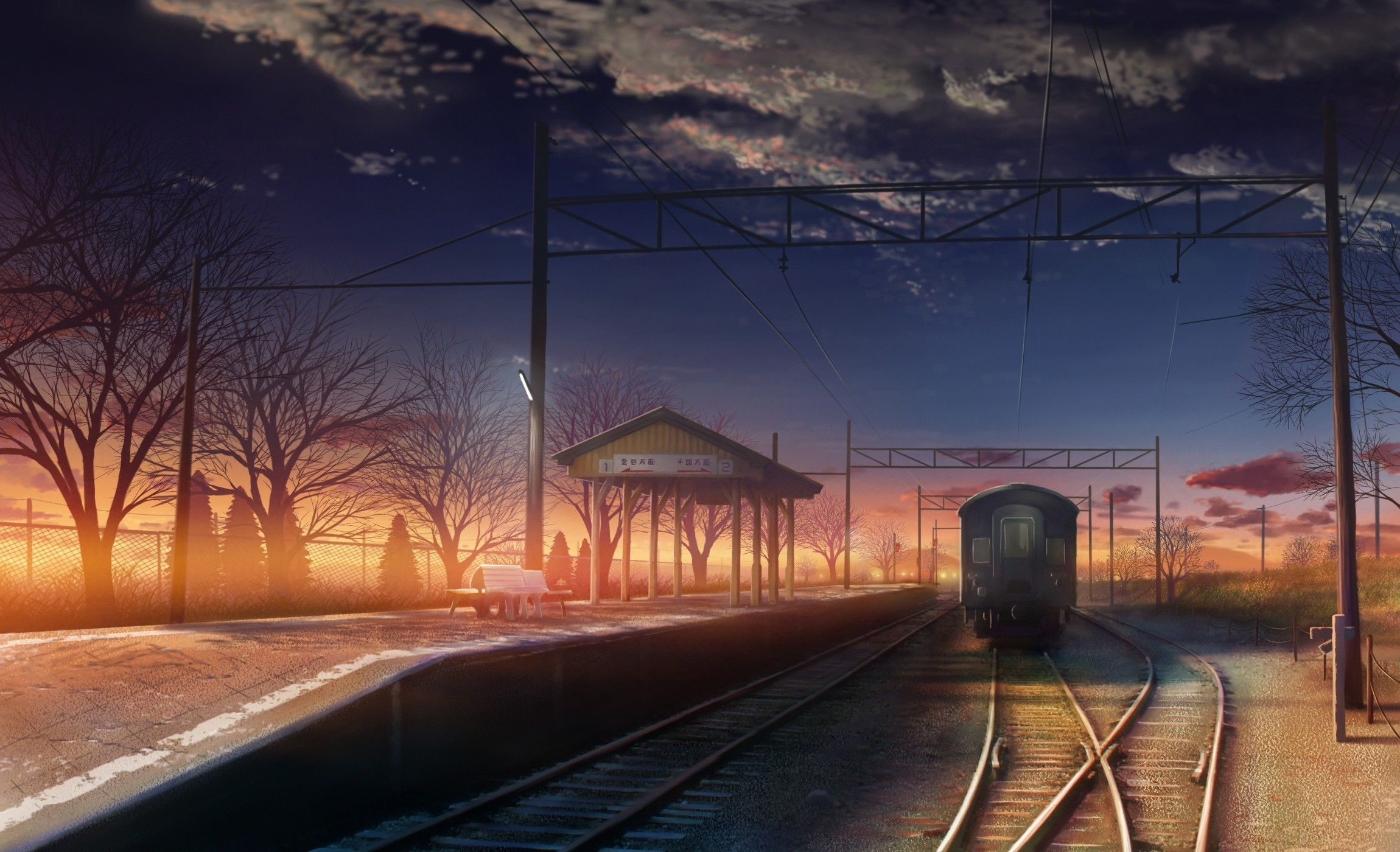 Free Download Scenic 5 Centimeters Per Second Drawings Anime Hd