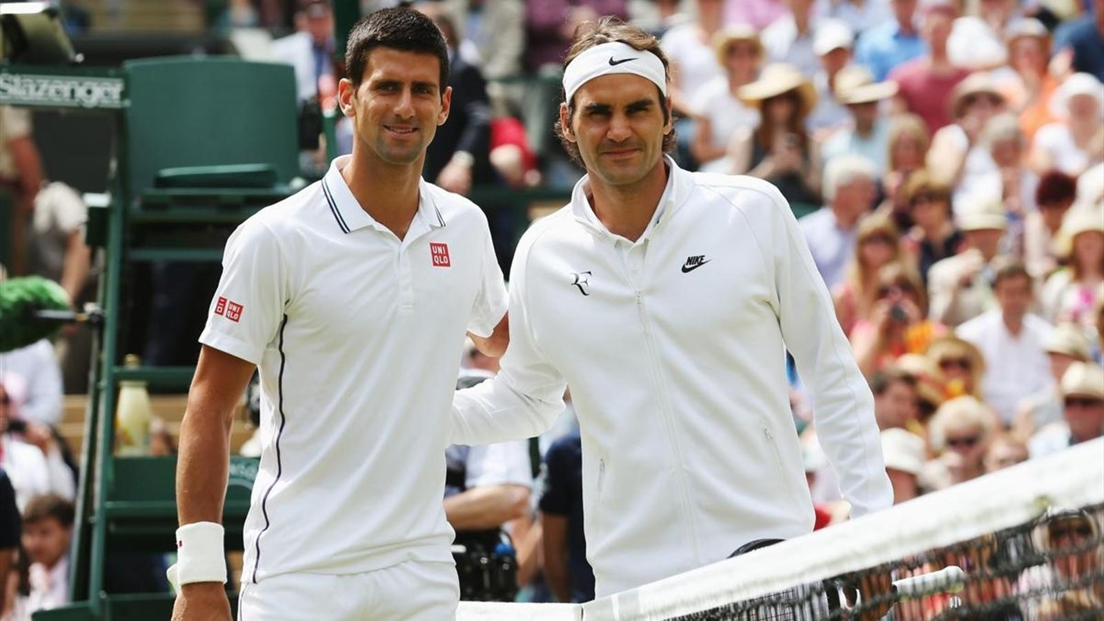 Novak Djokovic and Roger Federer on those Wimbledon courts Movie 1600x900