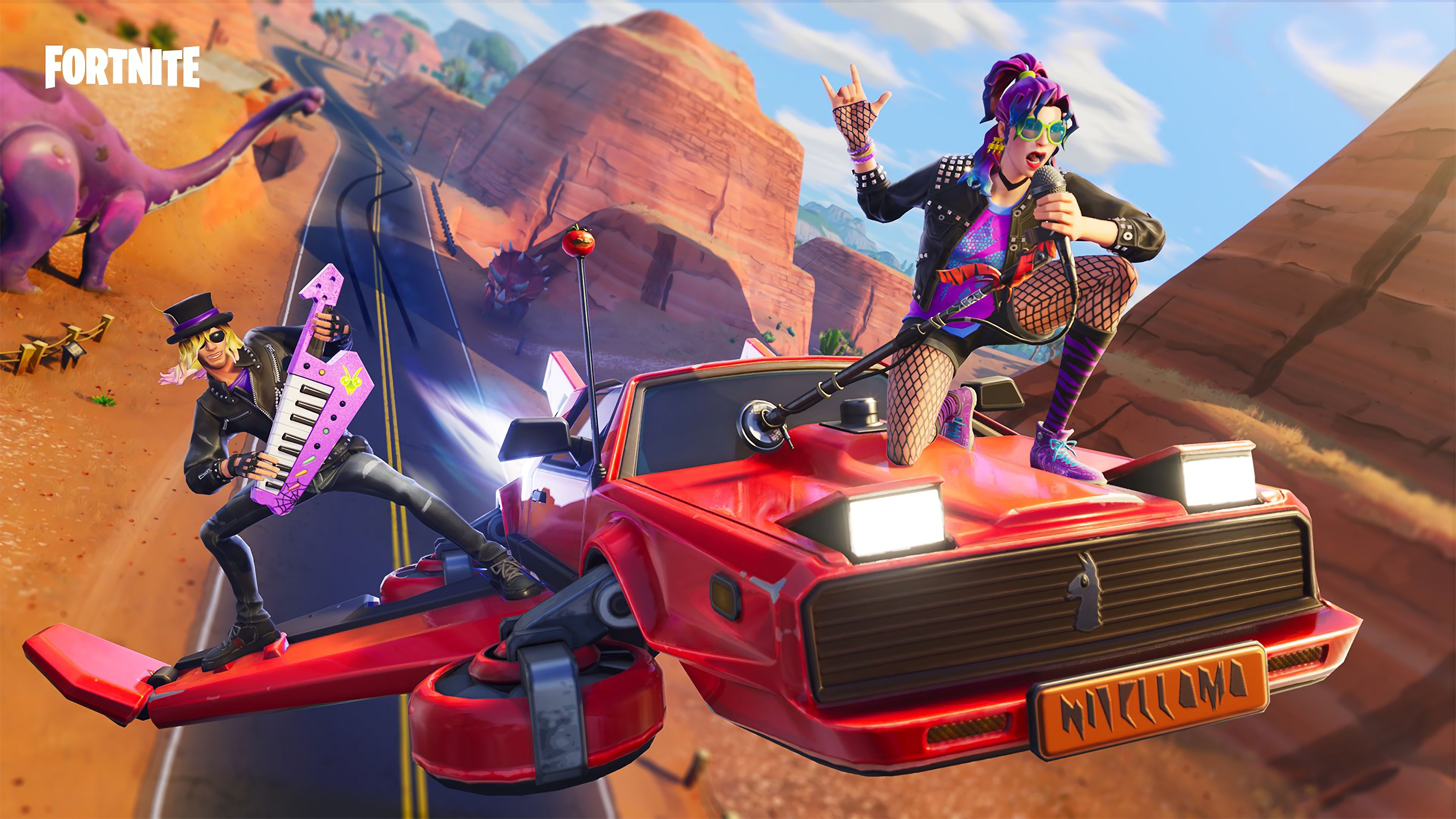 3840x2160 synth star and stage slayer hot rod glider fortnite 3840x2160