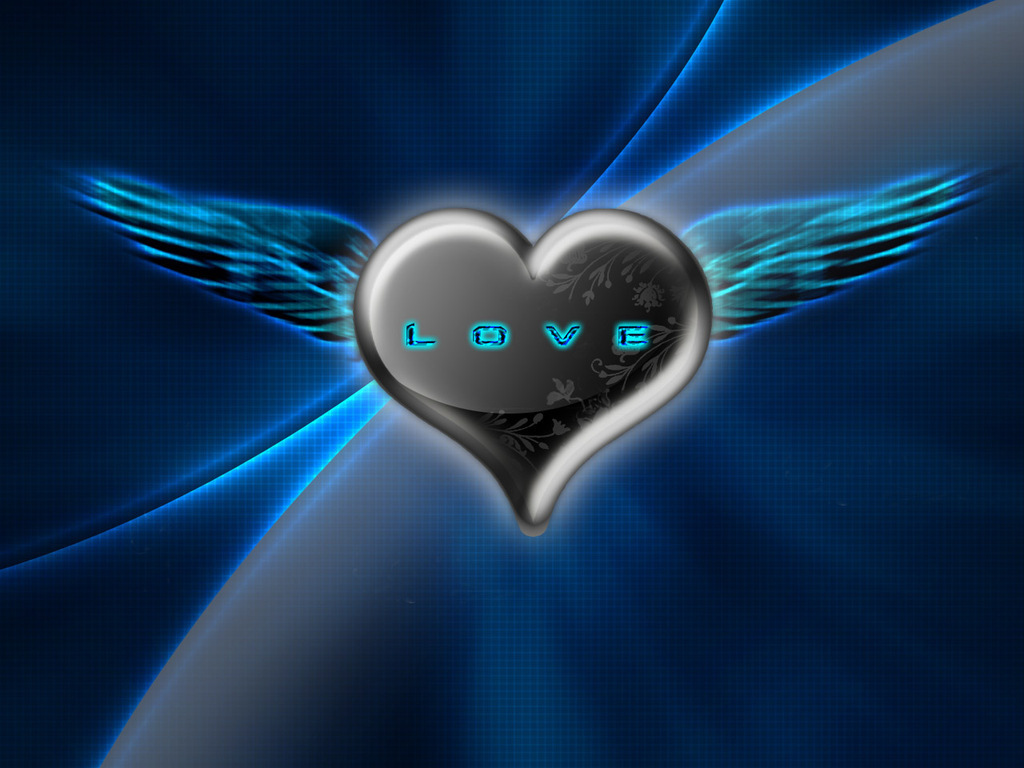 Heart with wings wallpapers and images   wallpapers pictures photos 1024x768