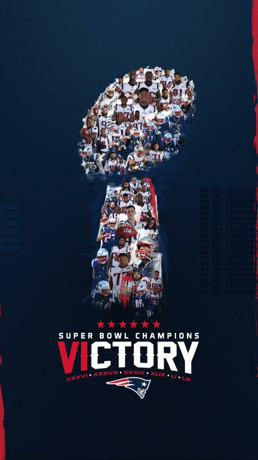 Awesome phone wallpaper from the Pats Instagram account Patriots 1080x1920