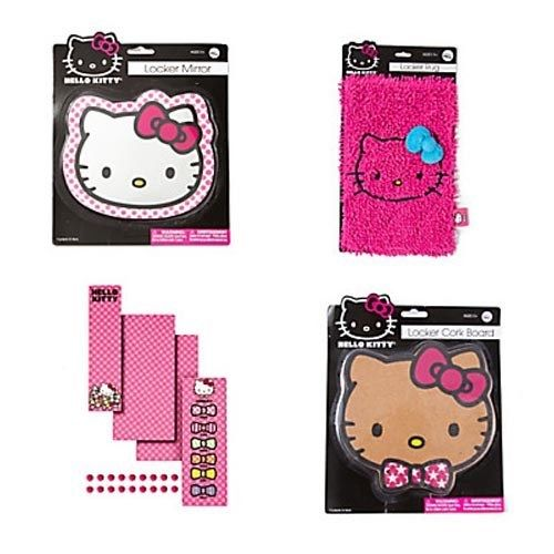 Hello Kitty Locker Set Mirror Rug Wallpaper Magnets Cork Board Sanrio 500x500