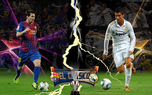 20 Foto Lionel Messi VS Cristiano Ronaldo Wallpaper 500x313