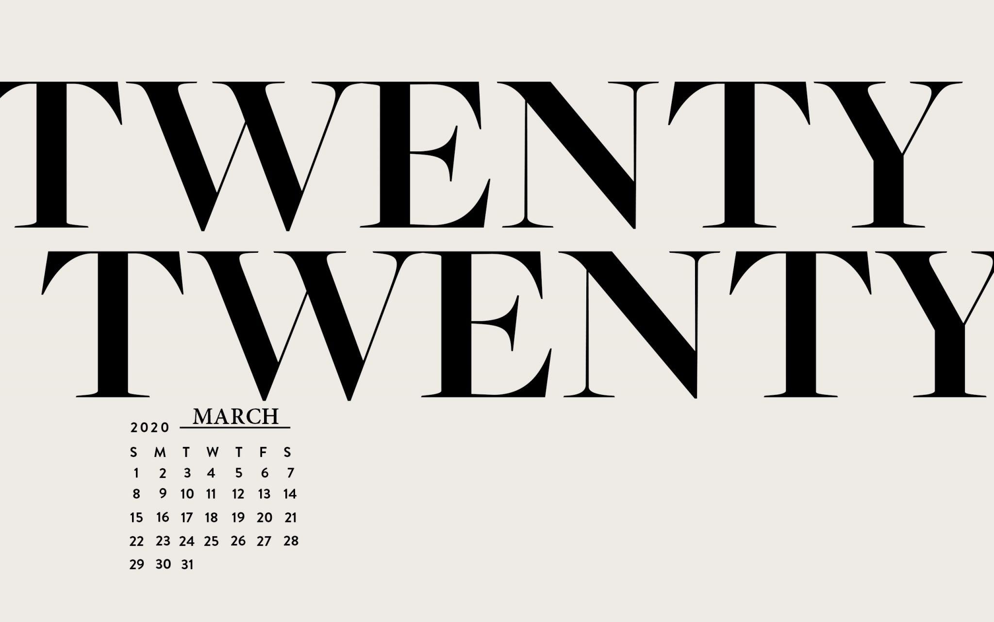 March 2020 Desktop Wallpaper Calendar 2019 2048x1282