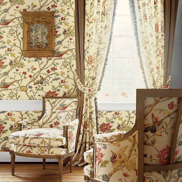 Thibaut   Great Estates   Thibaut Aviary T5835   Select Wallpaper 600x600