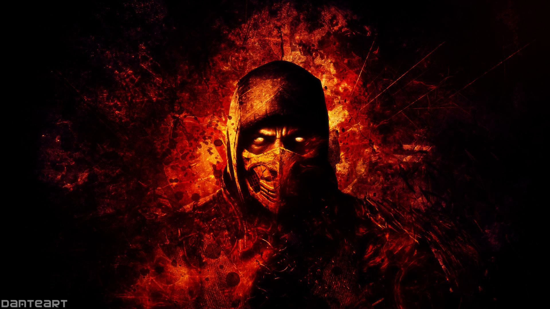 47 Mortal Kombat X Scorpion Wallpapers On Wallpapersafari