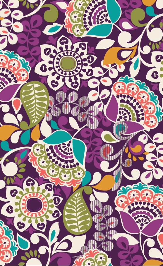 Vera Bradley Plum Crazy Patterns Through the Years Iphone 557x905