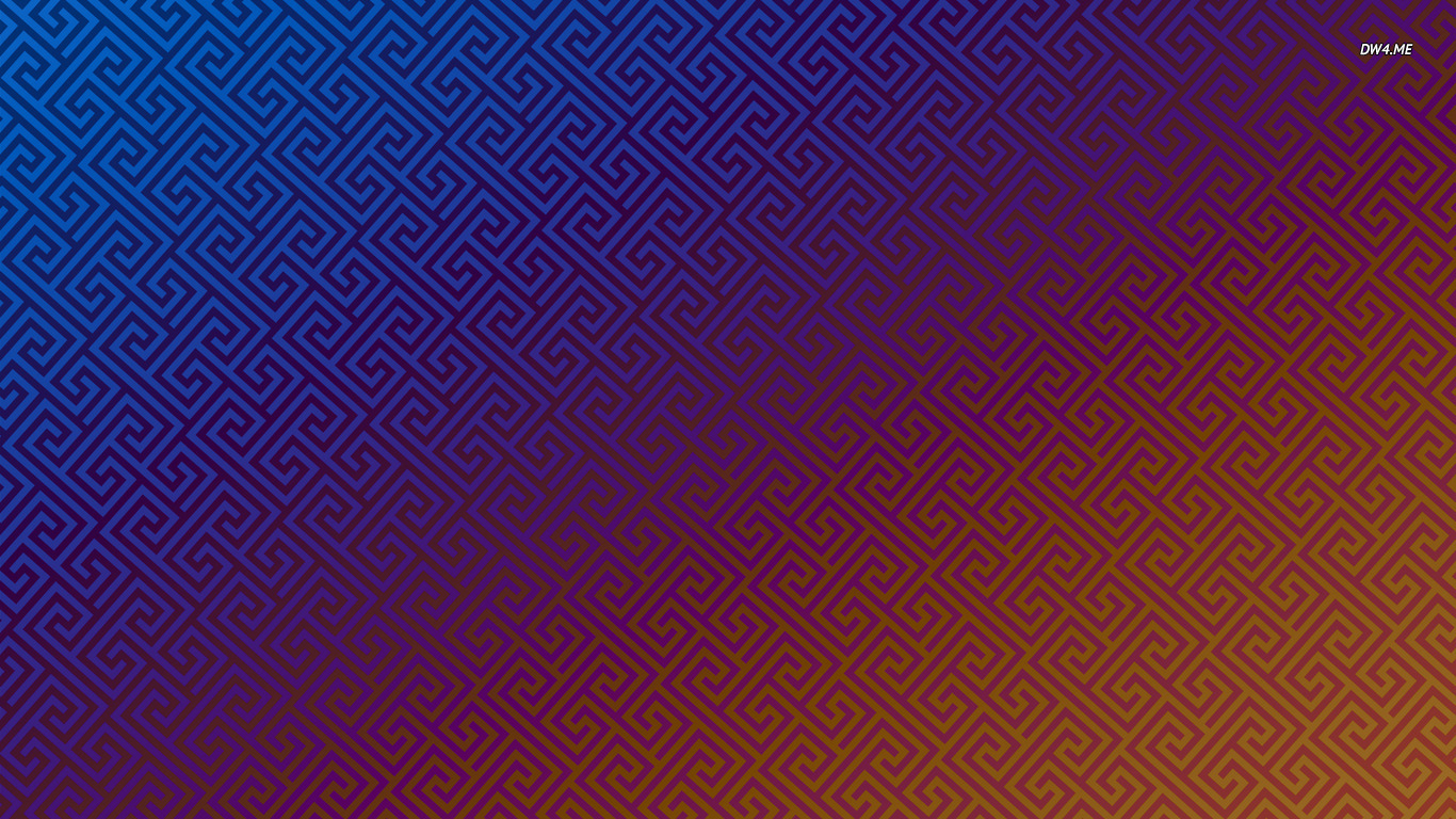 Blue and orange geometrical pattern wallpaper 2560x1600 Blue and 1366x768