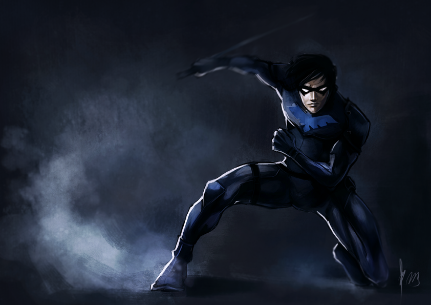 Nightwing Logo Wallpaper Hd Nightwing by radioactivated 842x595